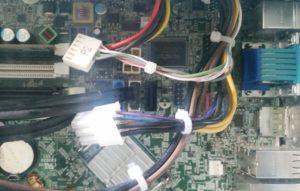 HP 6300 SFF Netzteil Anschluss