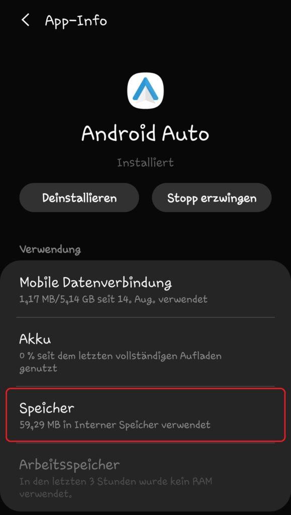 Android Auto App Cache